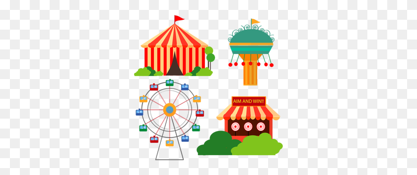 Carnival Tent Clip Art Free - Carnival Border Clipart