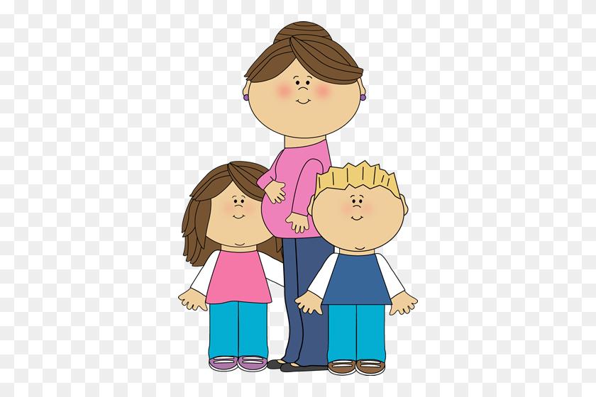 Cartes La Mom, Children - Puberty Clipart