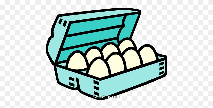 Carton Of Eggs Royalty Free Vector Clip Art Illustration - Egg Carton Clipart