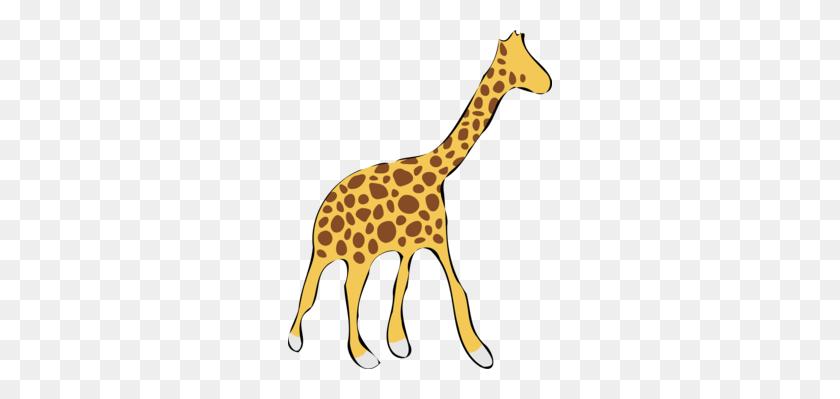 Cartoon Baby Giraffes Drawing Northern Giraffe Illustrator Free - Okapi Clipart