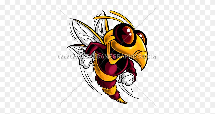 Cartoon Bee Mascot Production Ready Artwork For T Shirt Printing - Lion Mascot Clipart