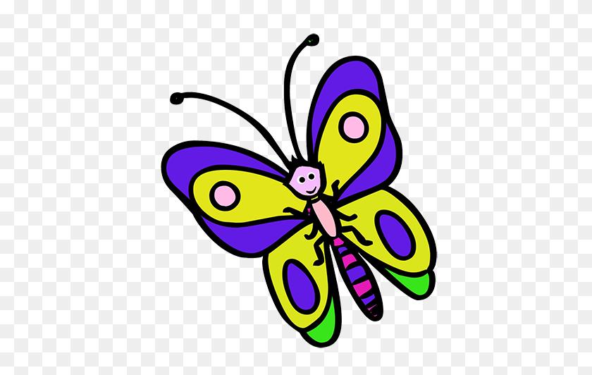 Cartoon Butterfly Clipart - Monarch Butterfly Clipart