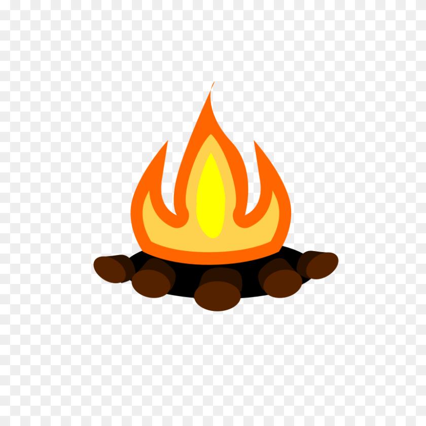Cartoon Camp Fire Image Group - Summer Camp Clipart