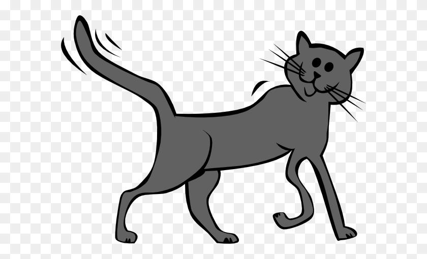 Cartoon Cat Clip Art - Running Cat Clipart