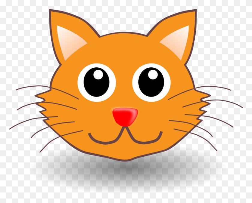 1880x1483 Cartoon Cat Faces Clipart - Sad Cat Clipart