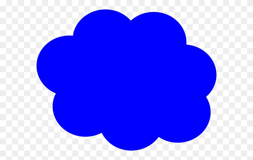 Cartoon Cloud Clipart Blue - Cartoon Cloud PNG