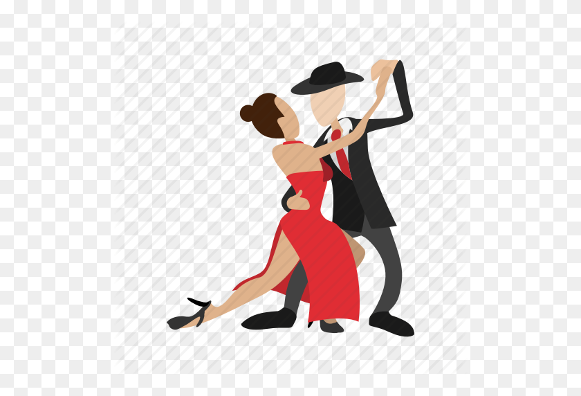 Cartoon, Couple, Dance, Dancing, Love, People, Tango Icon - People Dancing PNG