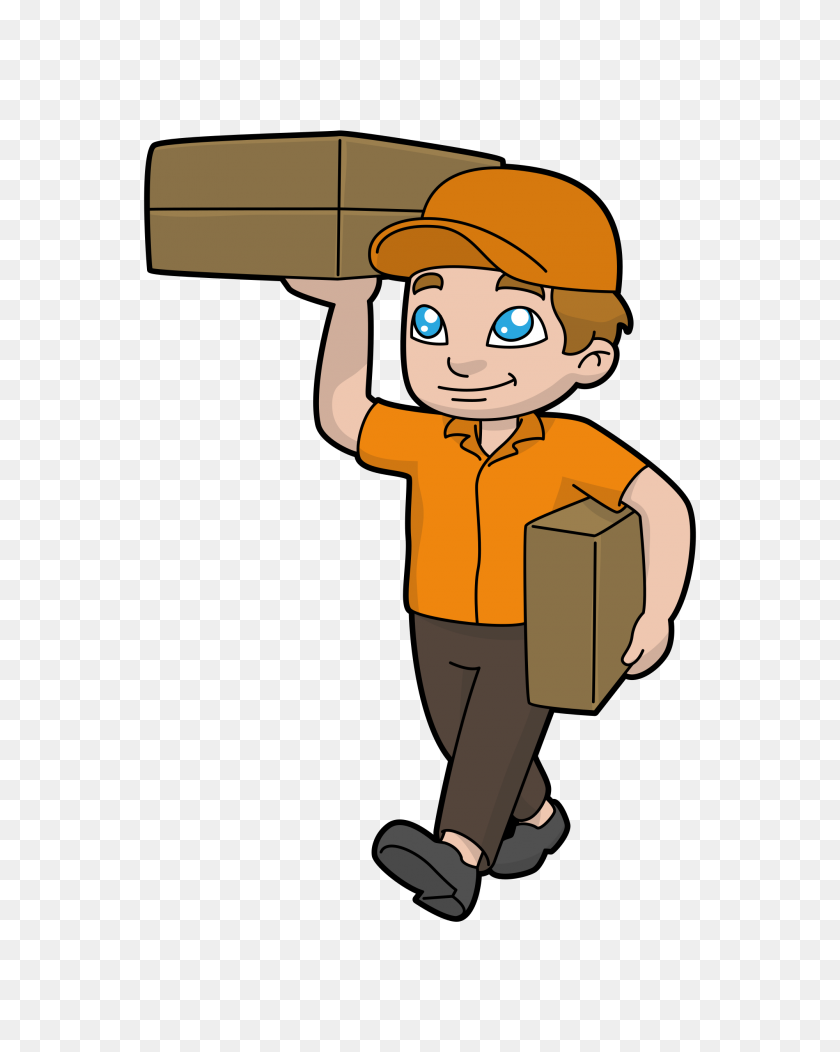 Cartoon Courier Man Delivering Packages Clip Art Packages Stunning Free Transparent Png Clipart Images Free Download
