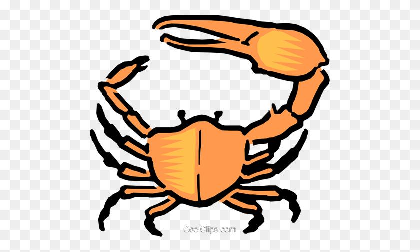 480x444 Cartoon Crab Royalty Free Vector Clip Art Illustration - Free Crab Clipart