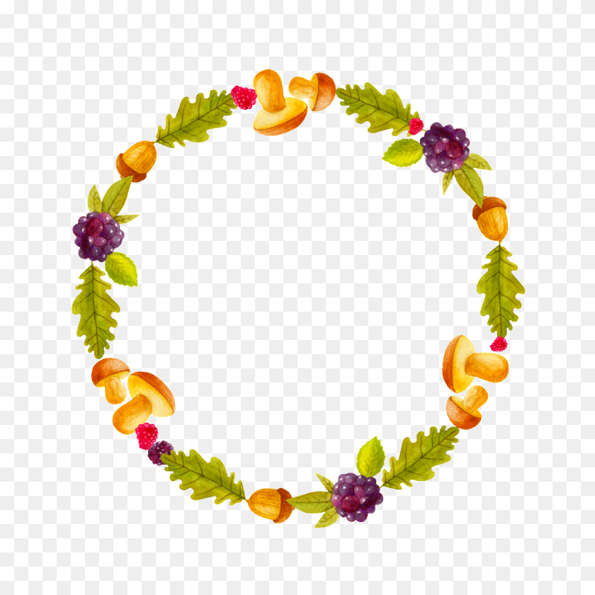 Cartoon Cute Fruit Vegetable Ring Transparent Free Png Download - Fruits And Vegetables PNG
