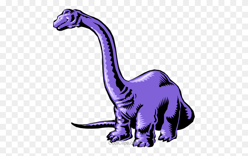 Cartoon Dinosaur Royalty Free Vector Clip Art Illustration - Cartoon Dinosaur Clipart