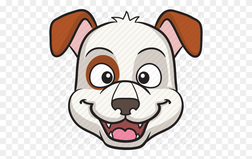 Cartoon, Dog, Emoji, Emoticon, Face, Smiley Icon - Cartoon Dog PNG