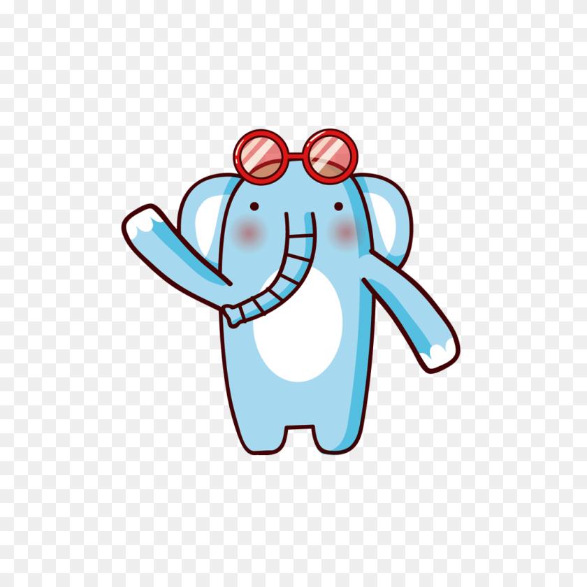 992x992 Cartoon Elephant Clip Art - Baby Elephant PNG