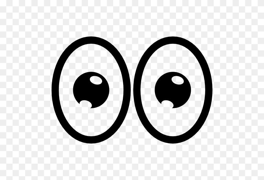 512x512 Cartoon Eyes - Sad Eyes PNG