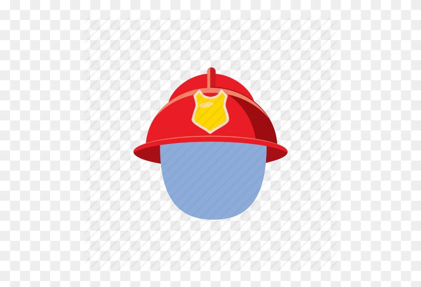 Cartoon, Fire, Firefighter, Fireman, Helmet, Mask, Protection Icon - Firefighter Helmet Clipart