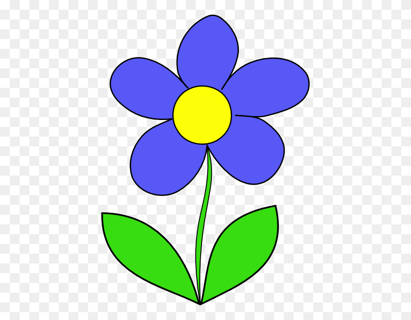 Cartoon Flowers Clip Art Simple Flower Clip Art - Single Flower Clipart