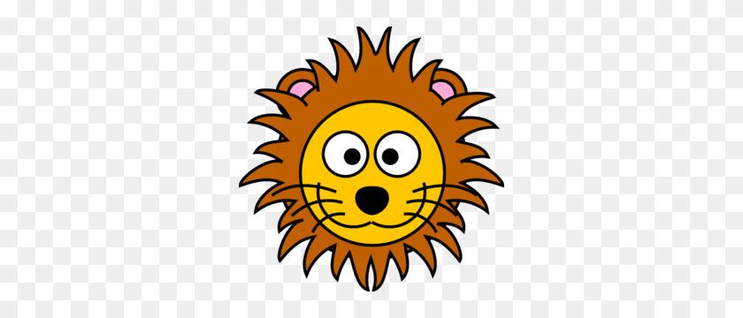 Cartoon Golden Lion Clip Art - Circus Lion Clipart