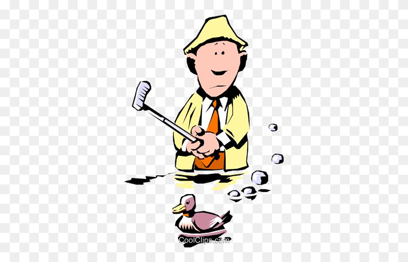 Cartoon Golfer Royalty Free Vector Clip Art Illustration - Free Golf Clipart Images
