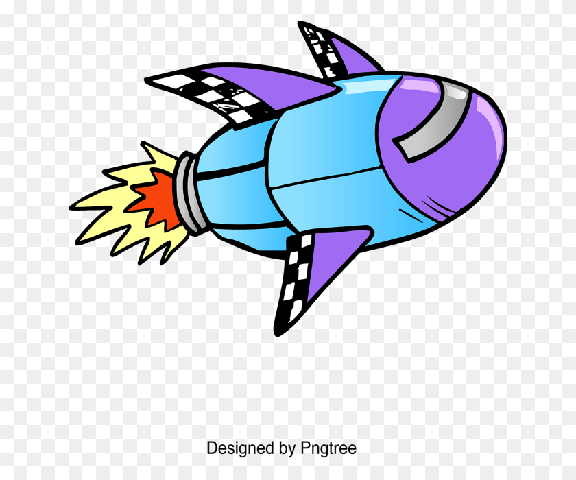 Cartoon Hand Painted Rockets, Cartoon, Hand Painted, Space Png - Rockets PNG