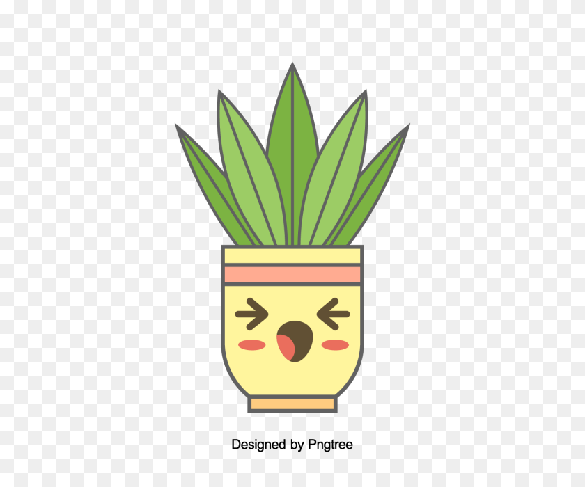 Cartoon Hand Painted Simple Flower Pot Flower Design, Cartoon - Flower Design PNG