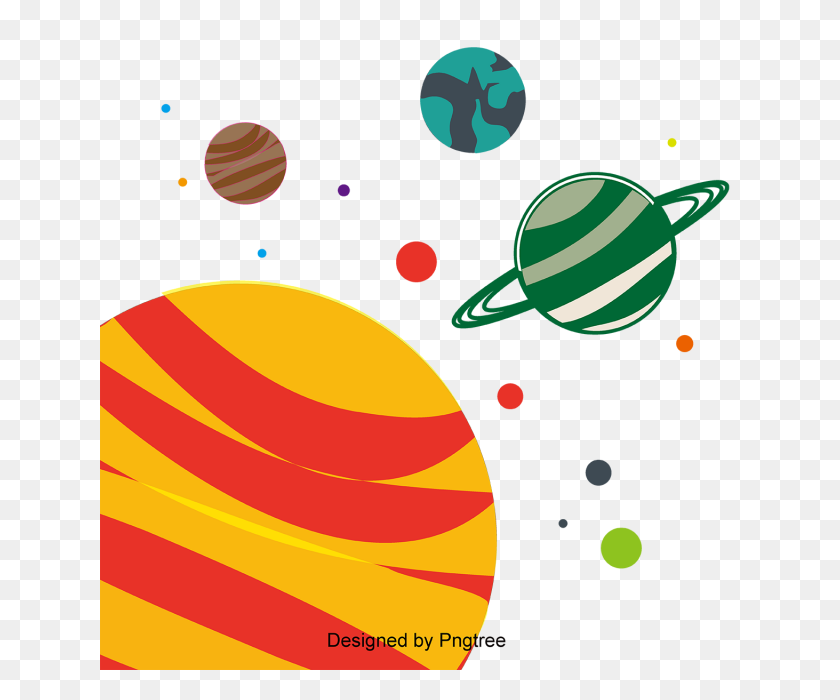 Cartoon Hand Painted Space Planet Cute, Cartoon, Hand Painted - PNG Space