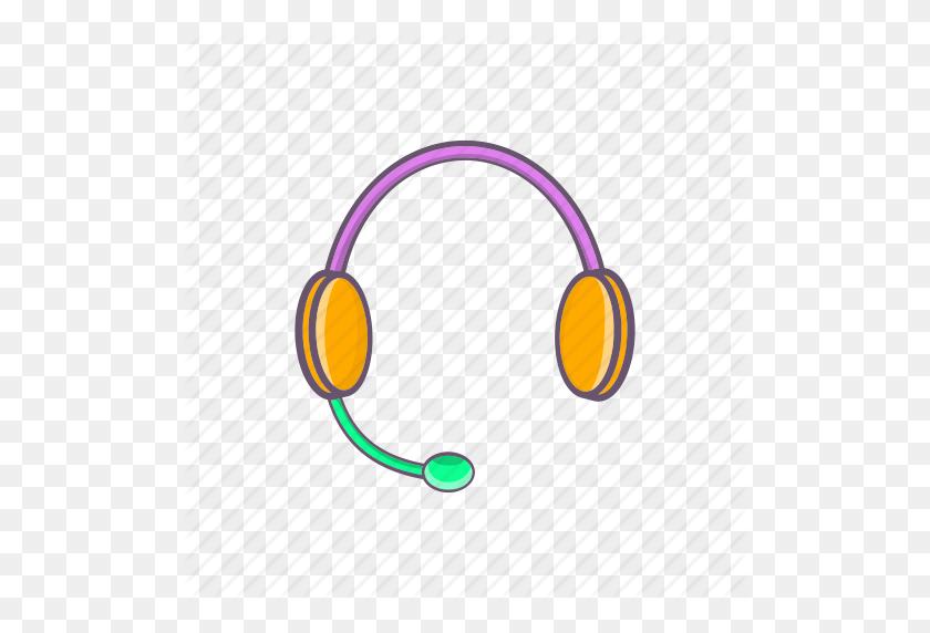 Cartoon, Headphones, Listen, Microphone, Sign, Sound, Stereo Icon - Cartoon Headphones PNG