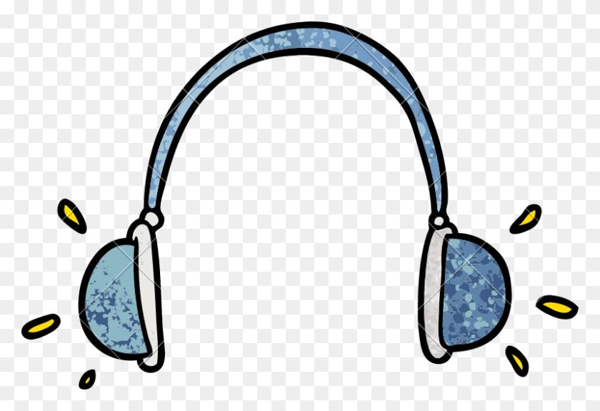 Cartoon Headphones Vector Image Icon Illustration Design - Cartoon Headphones PNG