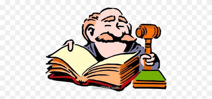 Cartoon Judge Royalty Free Vector Clip Art Illustration - Judge Clipart