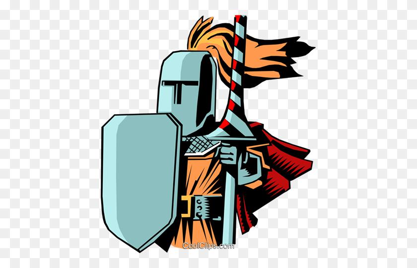 Cartoon Knights Royalty Free Vector Clip Art Illustration - Medieval Knight Clipart