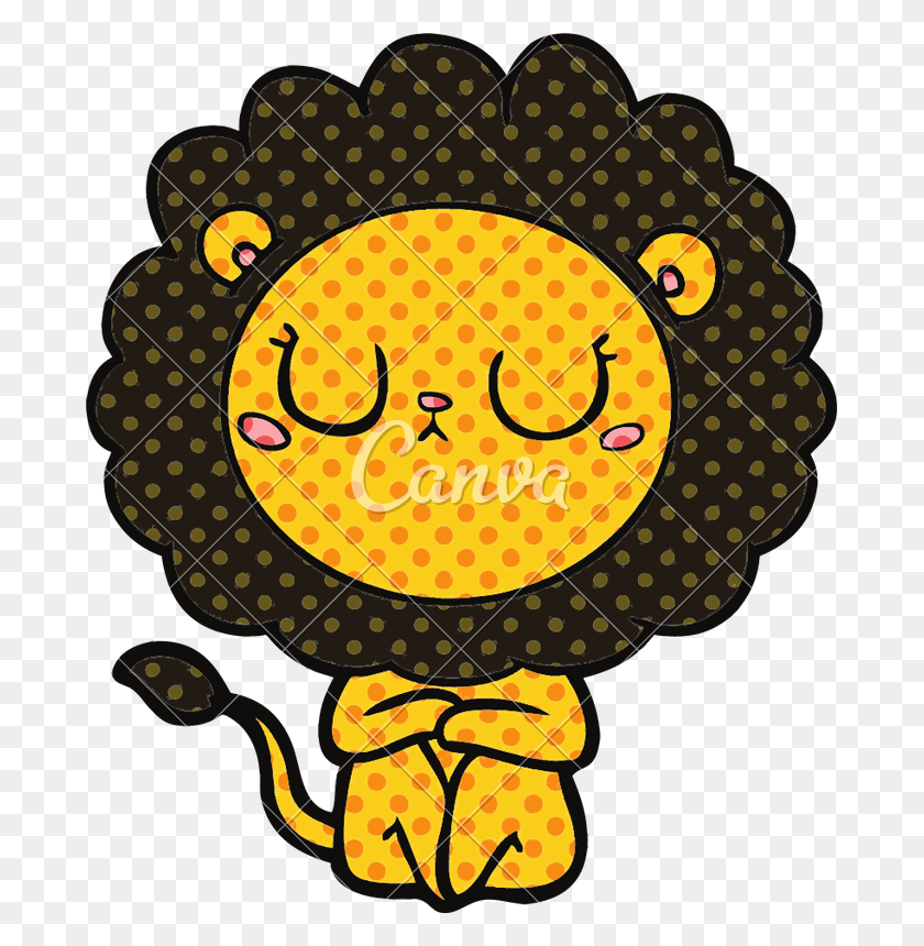 Cartoon Lion Vector - Lion Vector PNG