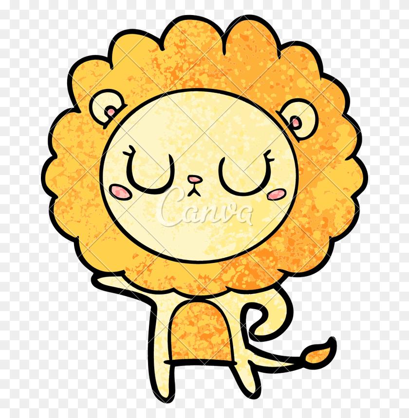 Cartoon Lion Vector Illustration - Lion Vector PNG