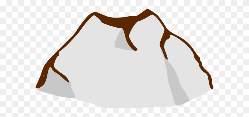 Cartoon Mountain Range - Mountain Outline Clipart