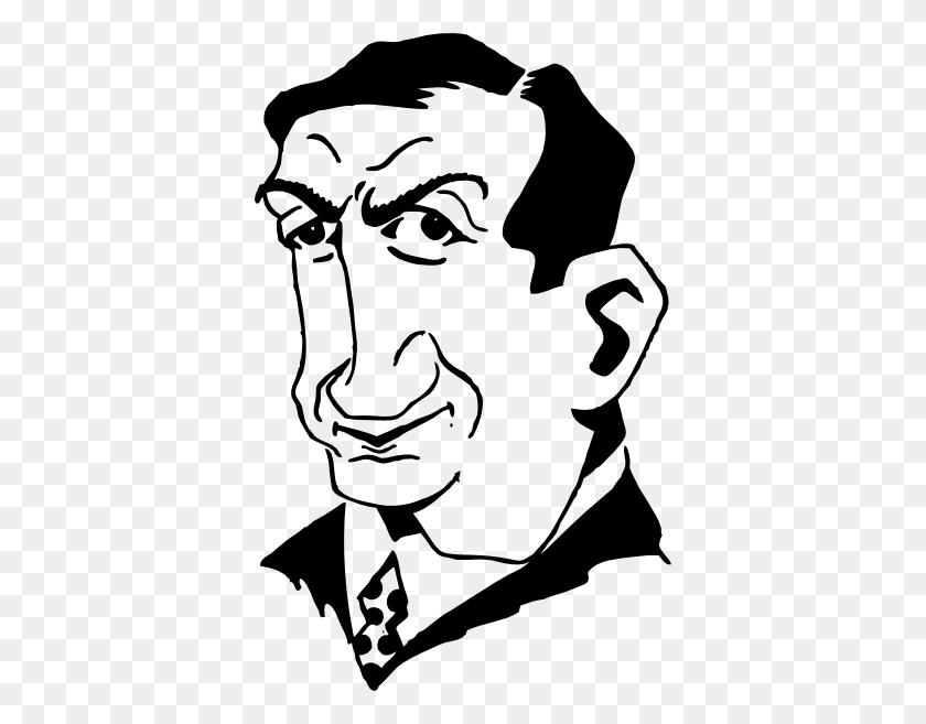 Cartoon Person Face Clip Art Free Vector - Person Clipart Black And White