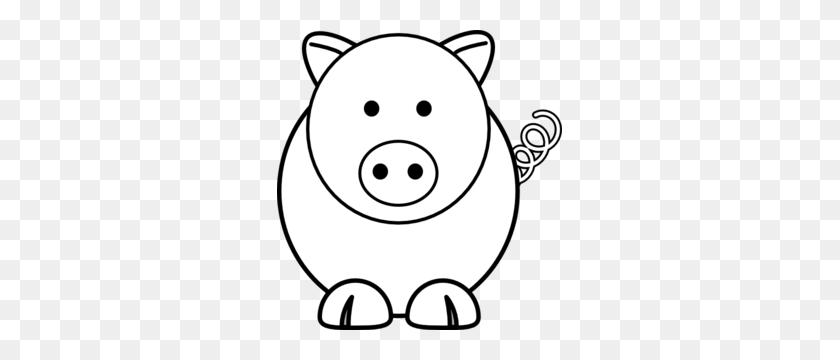 285x300 Cartoon Pig Clip Art Diy - Pig Face Clipart Black And White