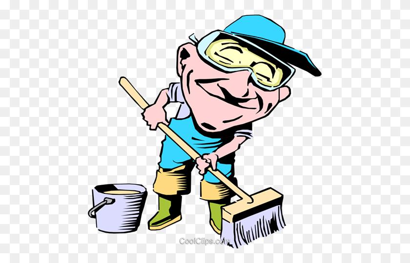 Cartoon Street Maintenance Royalty Free Vector Clip Art - Maintenance Clipart