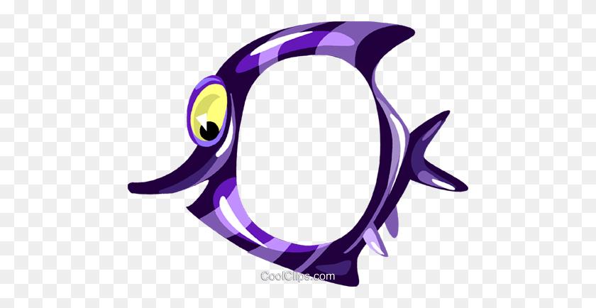 Cartoon Tropical Fish Frame Royalty Free Vector Clip Art - Tropical Border Clipart