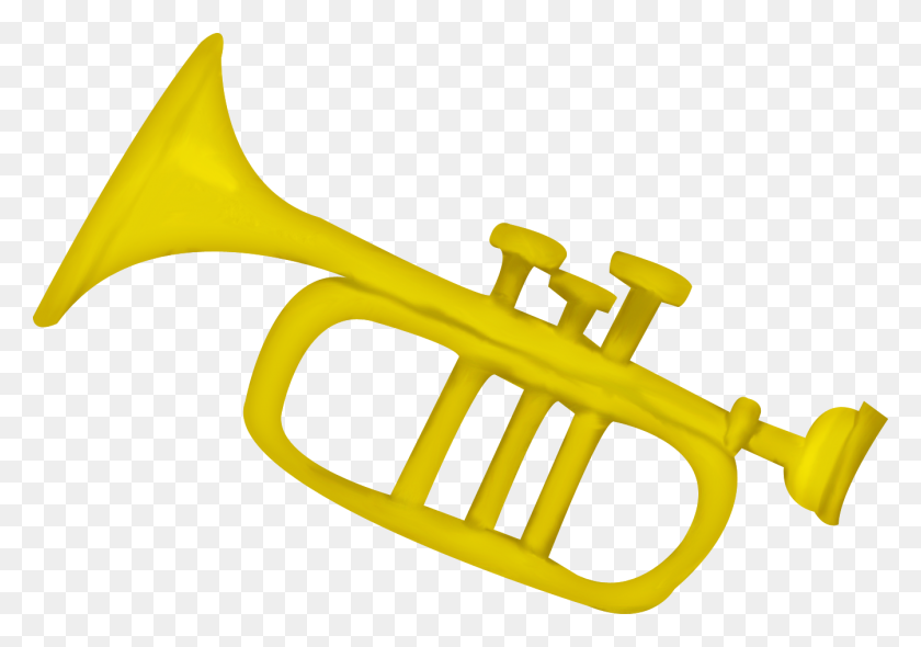 1344x914 Cartoon Trumpet Png For Free Download On Ya Webdesign - Mellophone Clipart