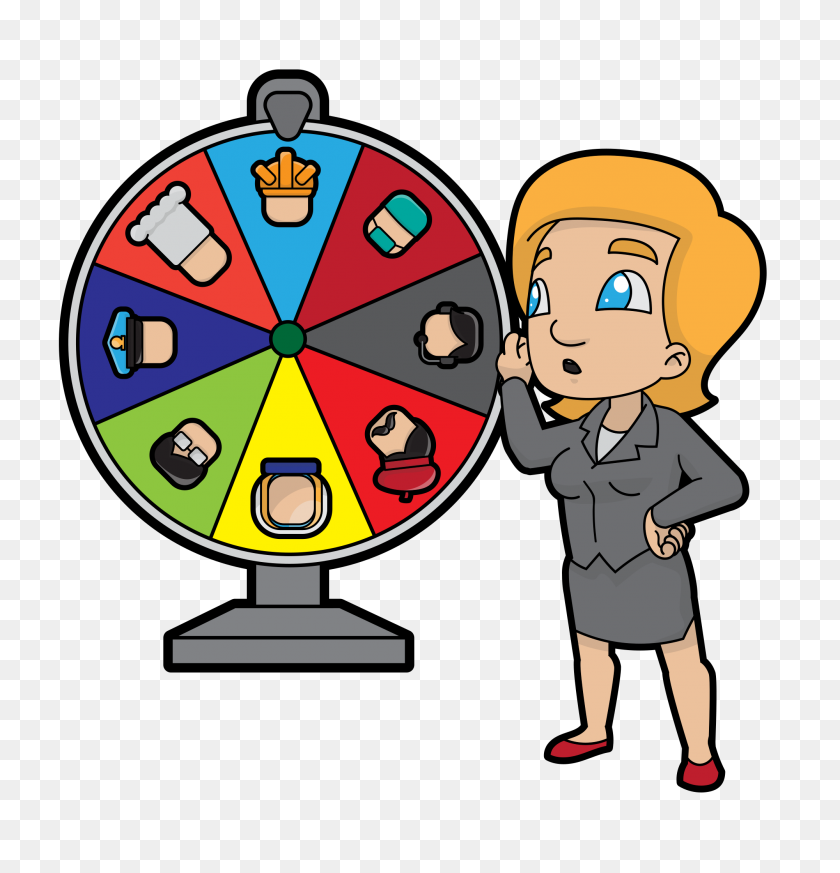 Cartoon Woman Changing Career Spinning Wheel Clipart Stunning Free Transparent Png Clipart Images Free Download