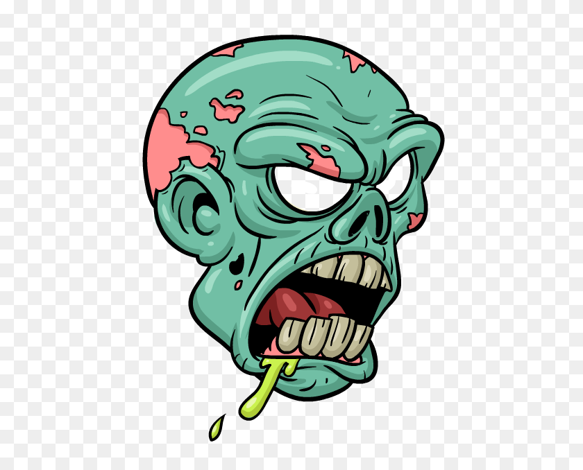 Cartoon Zombie Images Zombie Comic Set Cartoon Zombie - Monster Teeth Clipart