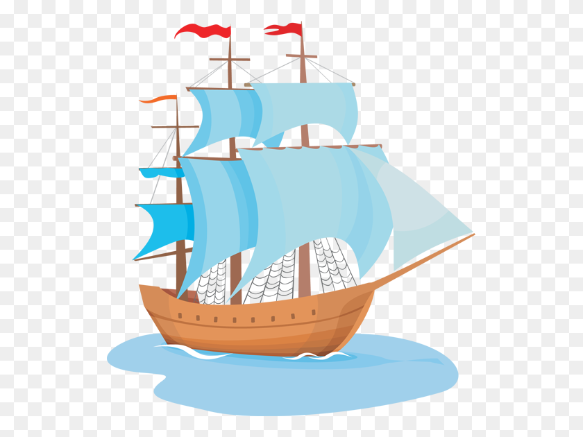 Cartoons Phonics - Sailing Ship Clip Art