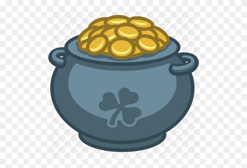 Cash, Gold, Irish, Leprechaun, Money, Pot Of Gold, Saint Patrick Icon - Pot Of Gold Clip Art