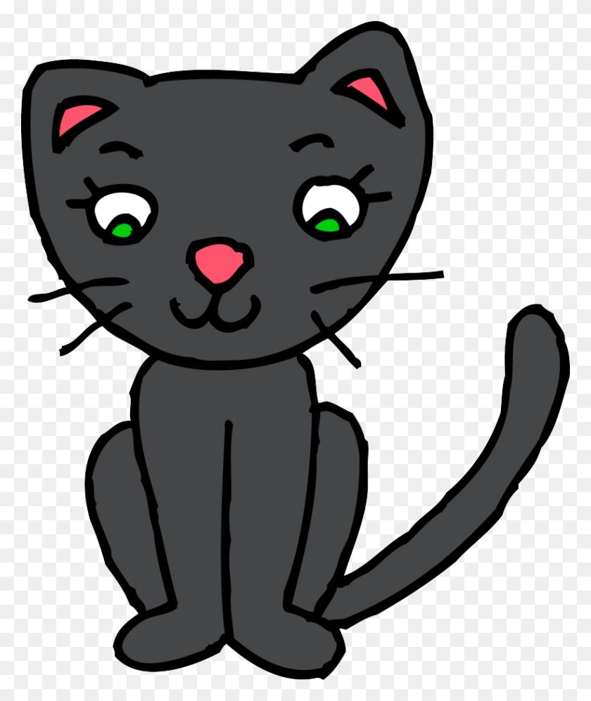 820x986 Cat Clip Art Cute Free Winging - Sad Cat Clipart