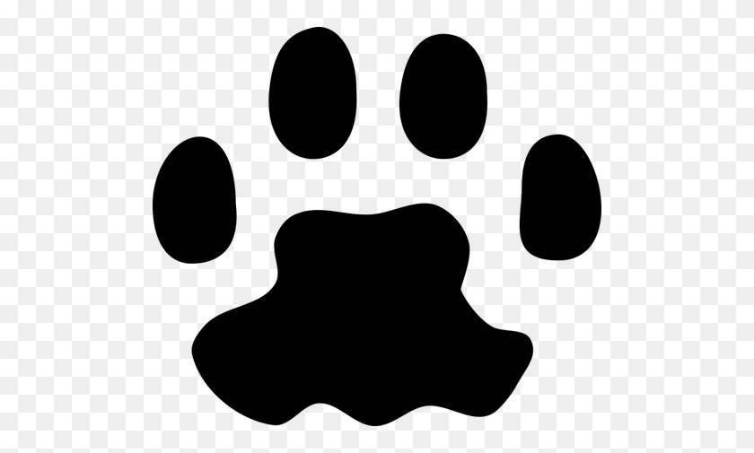 500x445 Cat Paw Print - Mouse Hole Clipart