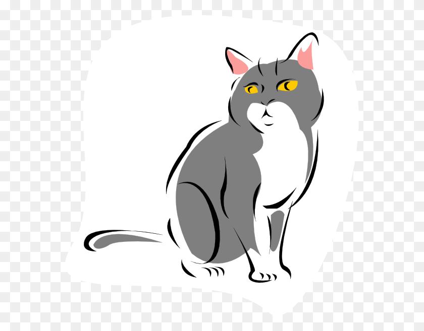 582x597 Cat Png Images, Icon, Cliparts - Sad Cat Clipart