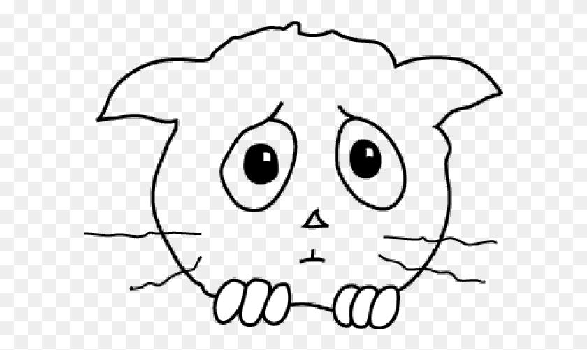 600x441 Cat Sad Png, Clip Art For Web - Sad Clipart Black And White