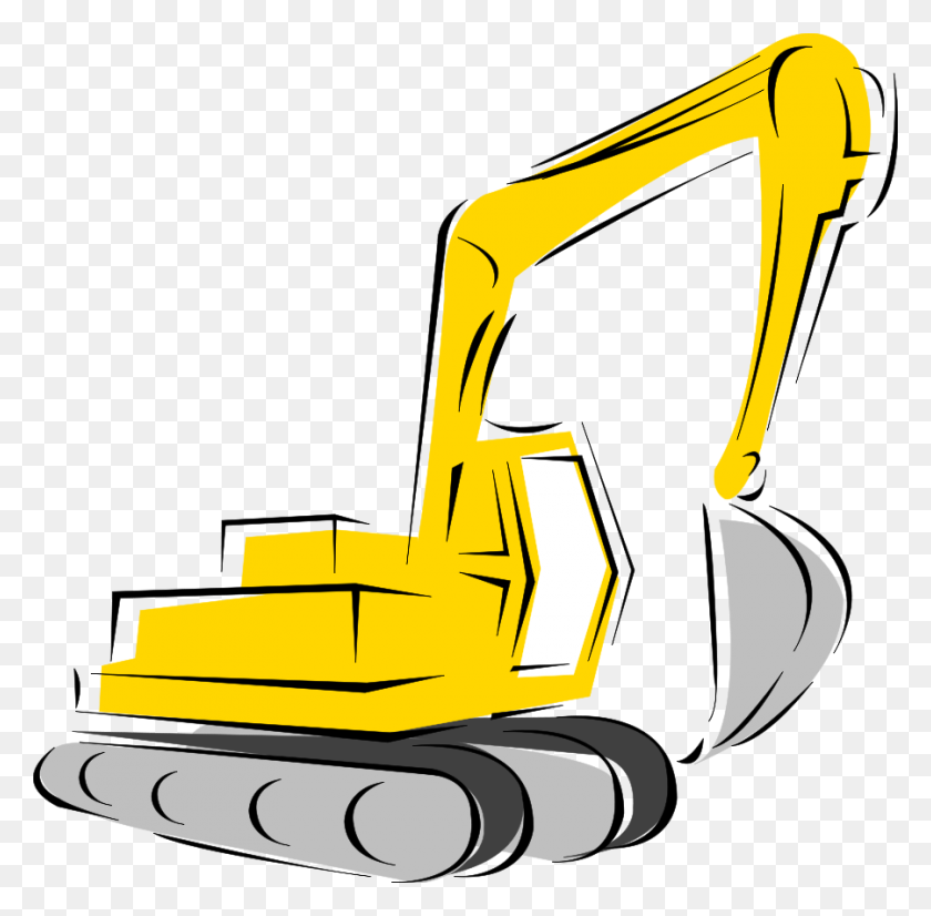 900x884 Caterpillar Inc Heavy Machinery Excavator Clip Art - Free Excavator Clipart