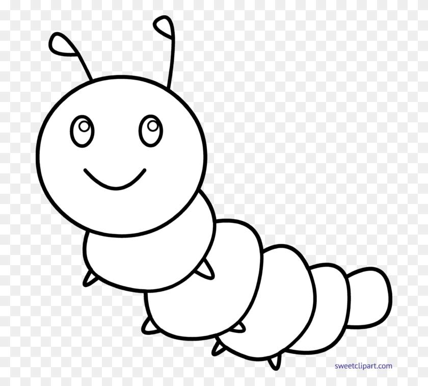 Caterpillar Lineart Clip Art - Caterpillar Face Clipart