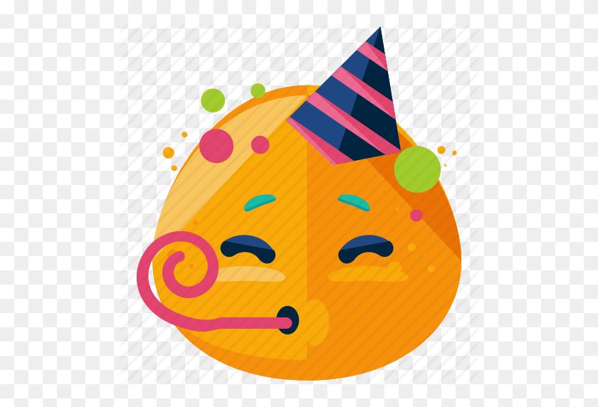 Celebrate, Emoji, Emoticon, Face, Party, Smiley Icon - Party Emoji PNG