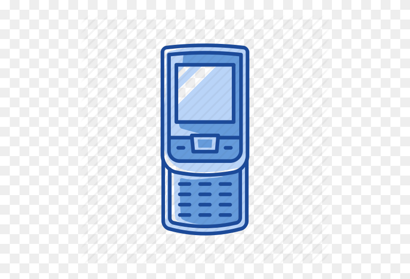 Cell Phone, Mobile Phone, Phone, Sliding Phone Icon - Mobile Phone PNG