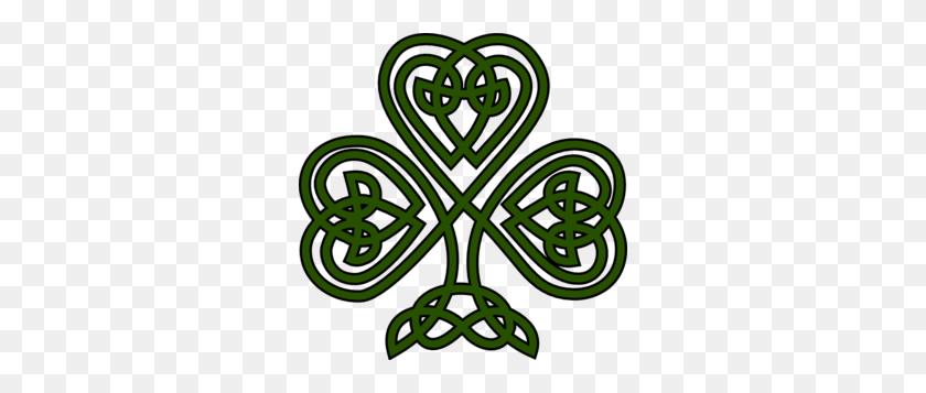 Celtic Shamrock Clip Art Silhouette Celtic - Celtic Knotwork Clipart